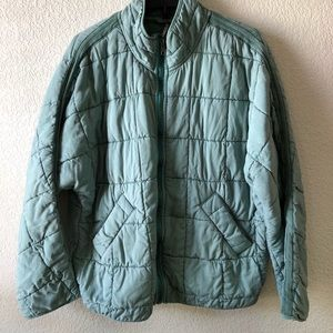 Free People Quilted Dolman Jacket Light Green